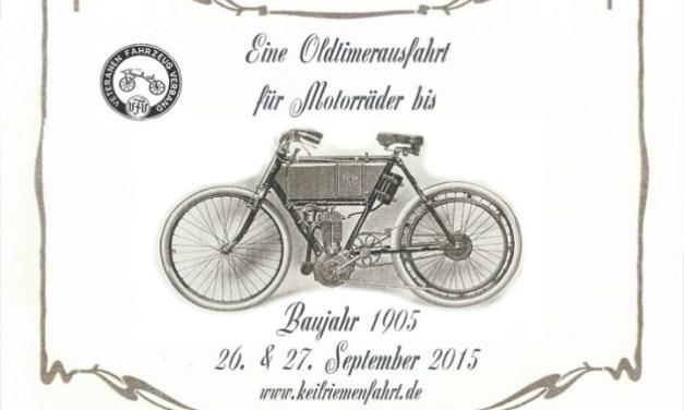 """""""Old Crocks"""" Erinnerungsfahrt durch Rheinhessen mit über 100 Jahre alten Motorrädern"""
