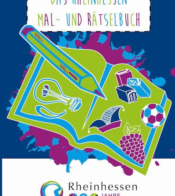 Druckfrisch erschienen: das Rheinhessen Mal- und Rätselbuch