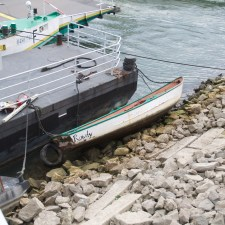 Der Anlegesteiger wurde aufs Ufer gedrückt (Bild: Andreas Lerg)