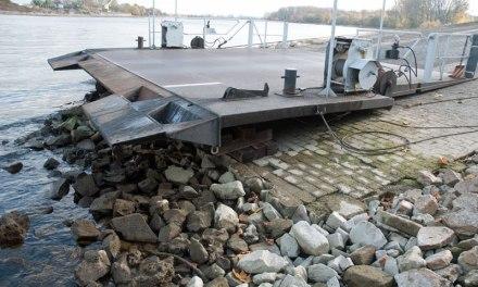Fähre in Nierstein hat Betrieb wegen Niedrigwasser eingestellt
