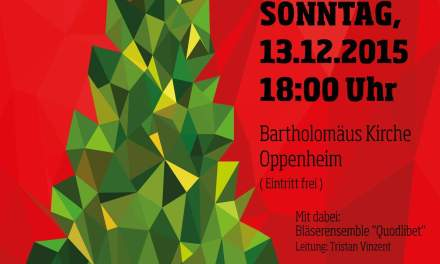 Harmonie in Takt Oppenheim lädt zum Weihnachtskonzert