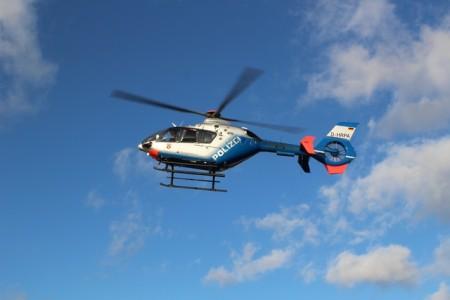Polizei Mainz sucht mit Hubschrauber nach Einbrechern