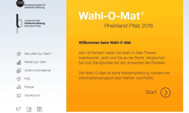 Wahl-O-Mat für Rheinland-Pfalz ist online