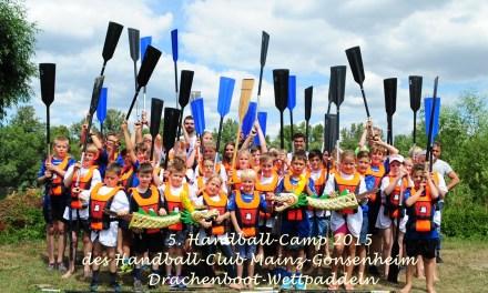 18. bis 22. Juli 2016: Sechstes Handball-Camp beim Handball-Club Mainz-Gonsenheim