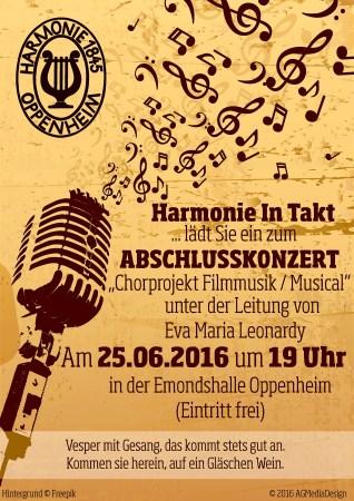 Musical & Filmmusik-Chorprojekt auf der Zielgeraden