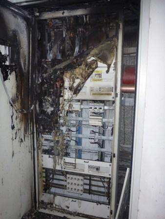 Brand im Verteilerschrank. (Bild: Feuerwehr Mainz)