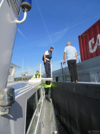 Aquapolkontrolle der Wasserschutzpolizei. (Bild WSP Mainz)