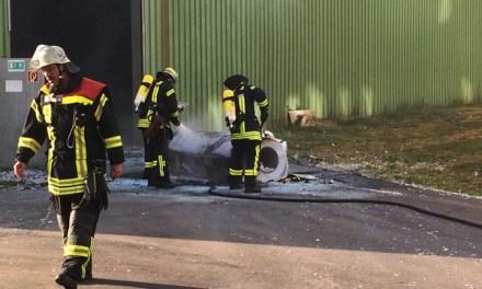 Ein Arbeiter verhindert einen Großbrand
