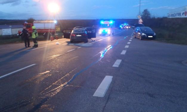 Unfall mit fünf Verletzten bei Monsheim