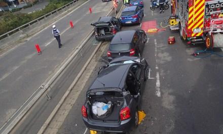 Verkehrsunfall mit drei schwerverletzten Personen
