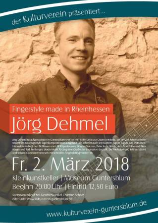 Jörg Dehmel spielt in Guntersblum