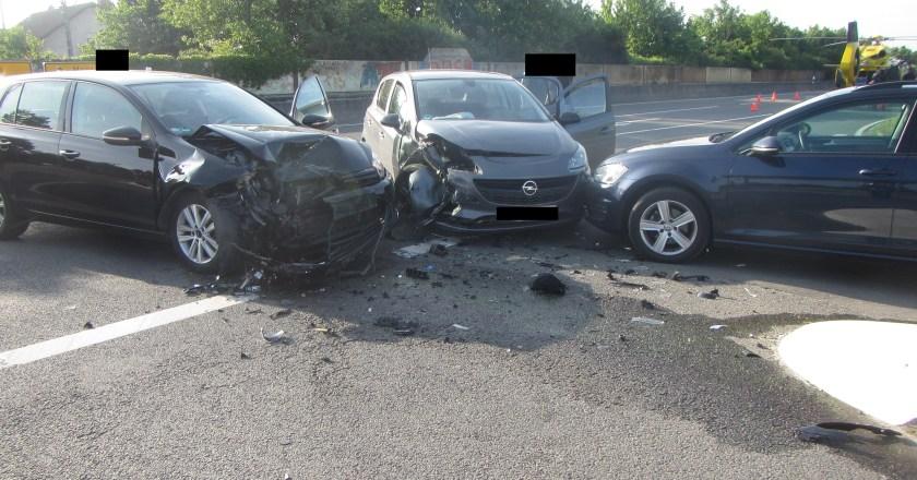 Verkehrsunfall mit schwer Verletzten bei Guntersblum