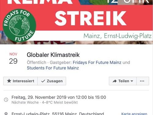 #NeustartKlima am 29.11 in Mainz!