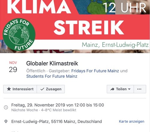 #NeustartKlima am 29.11 in Mainz!