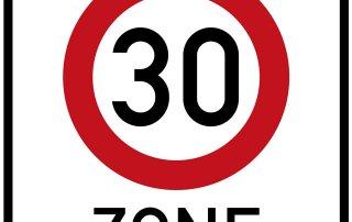 Verkehrsschild 30 Zone