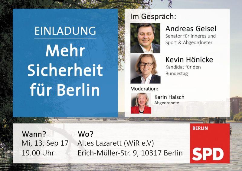 Flyer Mehr Sicherheit für Berlin - WIR e.V.