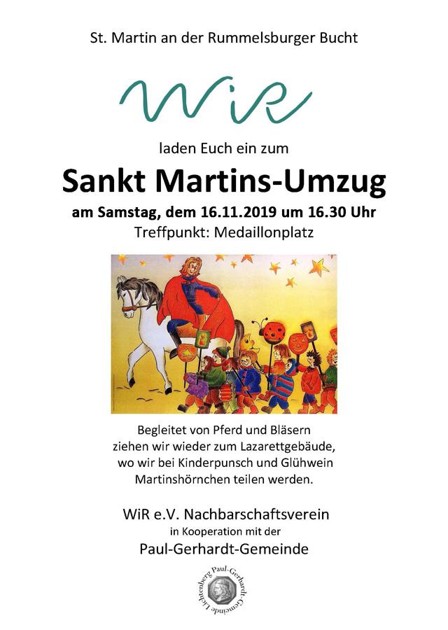 WiR – Wohnen in der Rummelsburger Bucht Nachbarschaftsverein – Sankt-Martins-Umzug am 16.11.2019