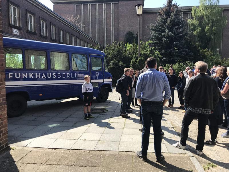 WiR – Wohnen in der Rummelsburger Bucht Nachbarschaftsverein – Exkursion zum Funkhaus Nalepastraße am 28. April 2018