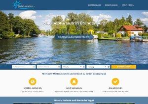 Yacht-Mieten.de Webseite