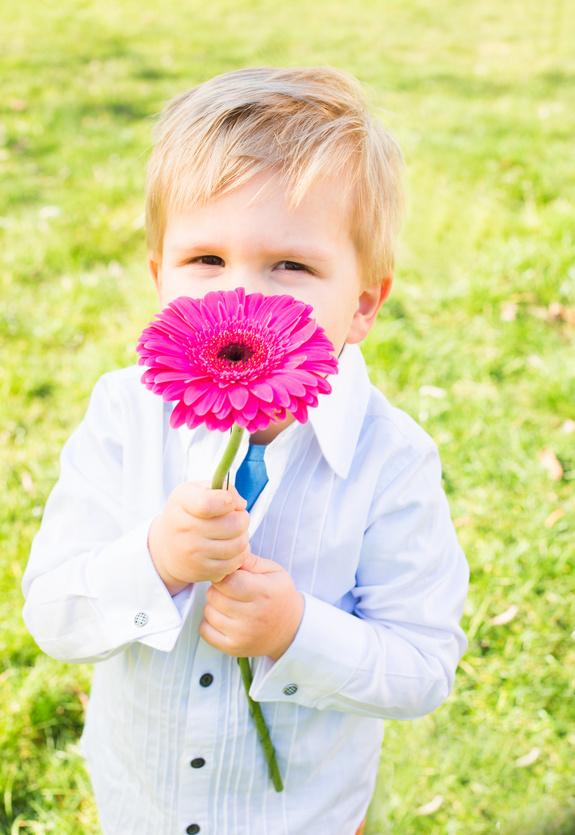 Little boy looking