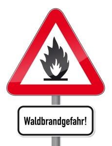 Schild Waldbrandgefahr