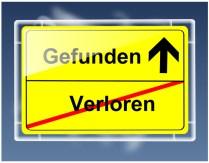 Schild - Verloren/Gefunden