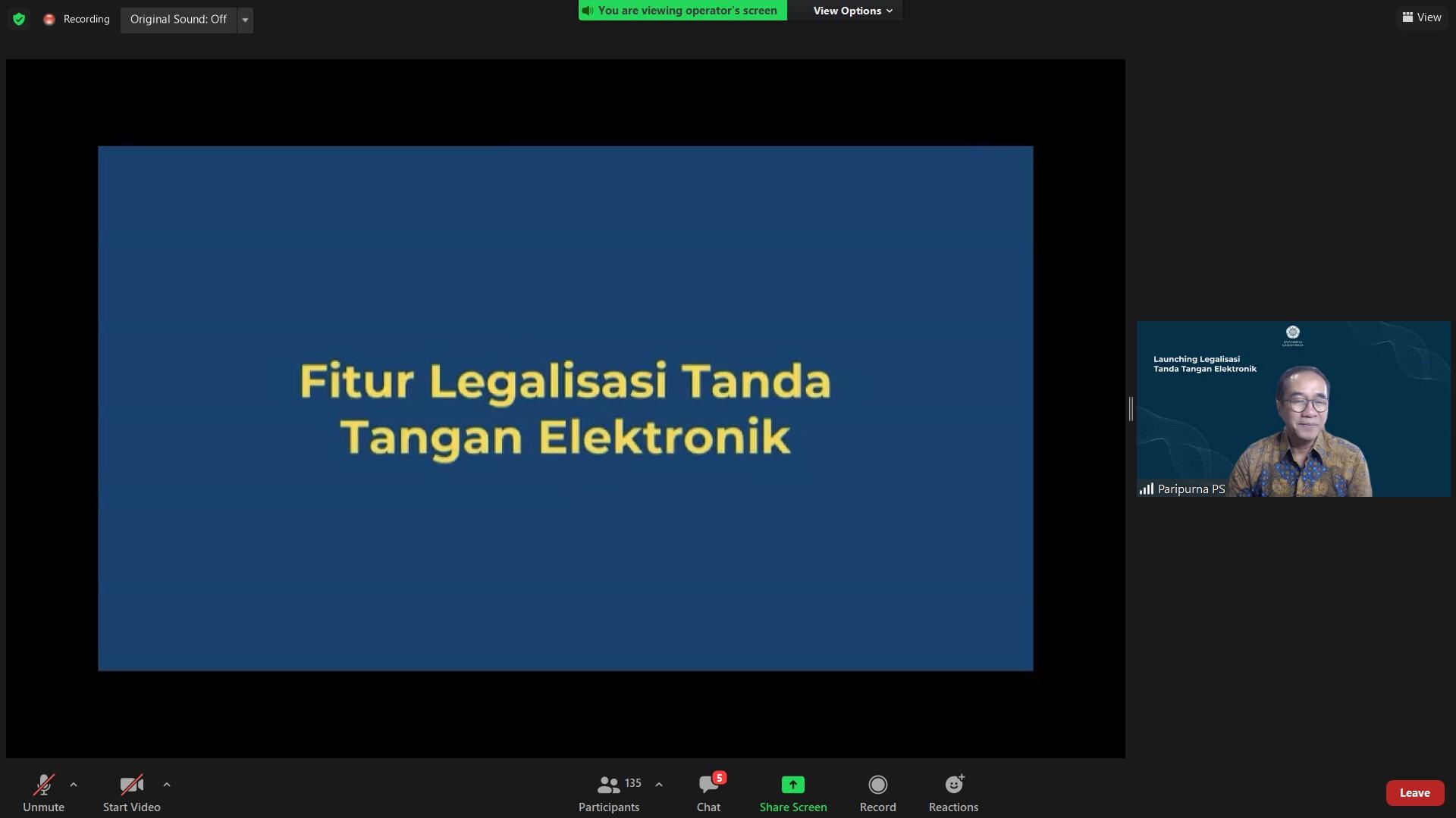 UGM Luncurkan Layanan Legalisasi dengan Tanda Tangan Elektronik