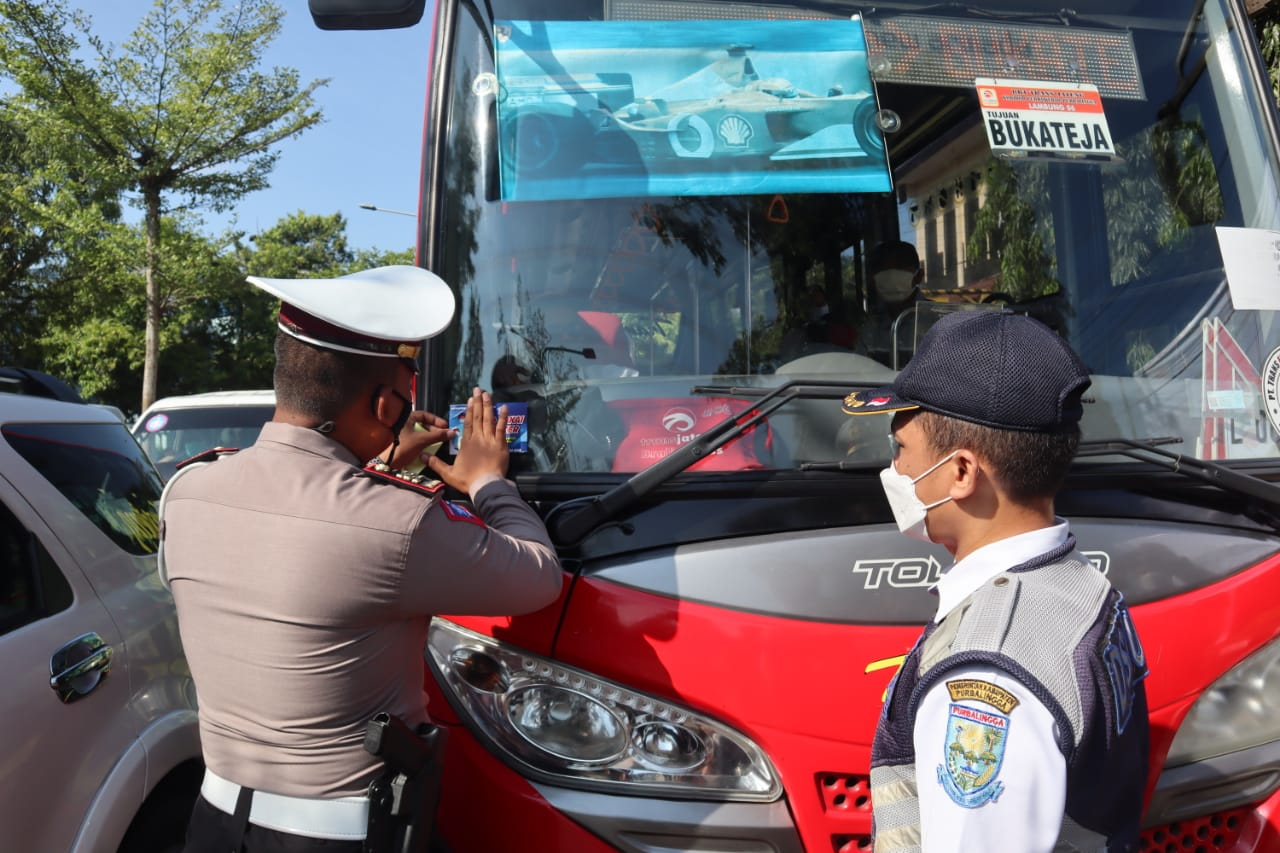 Operasi Patuh Candi 2021, Polres Purbalingga Ajak Warga Patuh Prokes