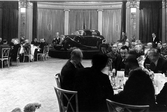 Jaguar SS 100 lanseringen på Mayfair Hotel