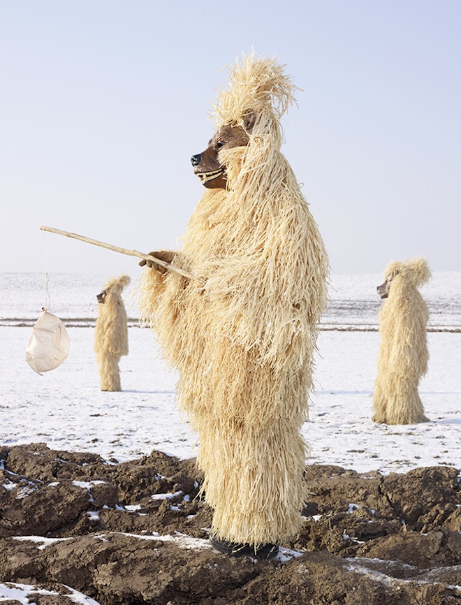 The Straw Bear costume is inspired by Germanyu0027s rural past. & Winter Solstice Costumes | Moss and Fog