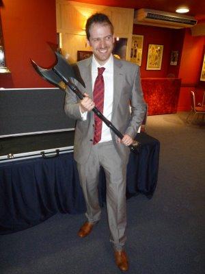 Joe Abercrombie. And his axe.