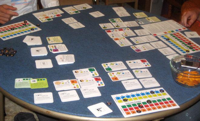 Game in progress. Photo: Robyn Liu