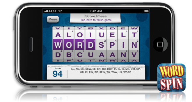 WordSpin on the iPhone.