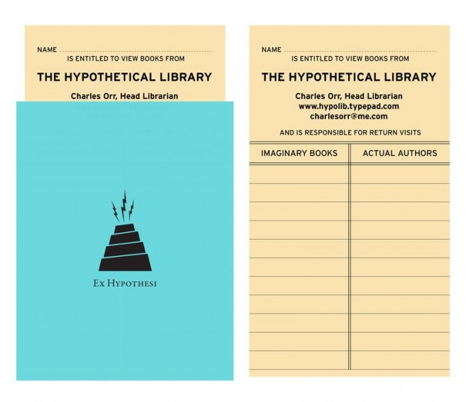 The Hypothetical Library Card, by Charles Orr. Used with permission.