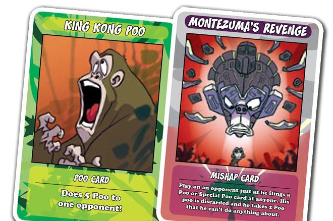 A few poo cards