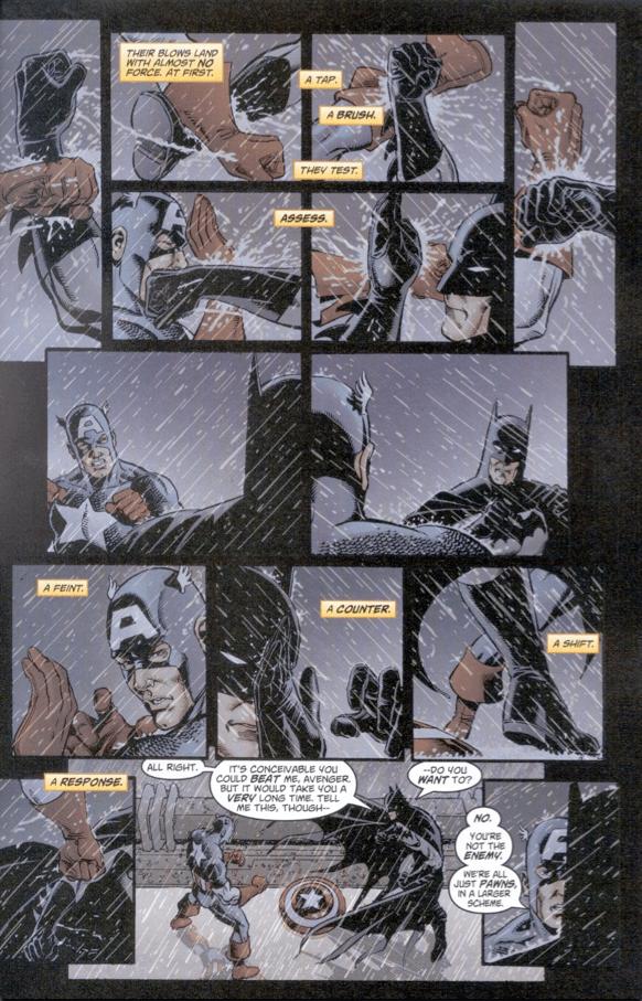 Batman and Captain America face off in JLA/Avengers