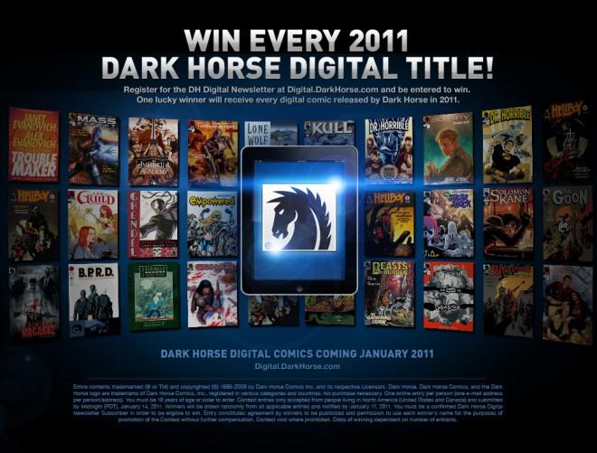 Dark Horse Comics contest ad