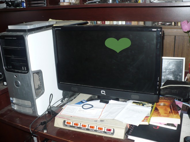 Computer desk, computer cleaning
