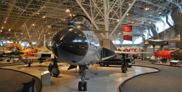 A view of the sprawling Canada Aviation and Space Museum in Ottawa