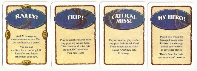 Cutthroat Caverns Action cards.