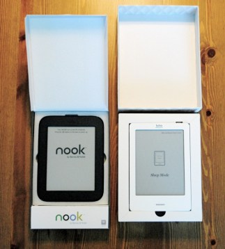 The latest NOOK and Kobo touchscreen e-readers