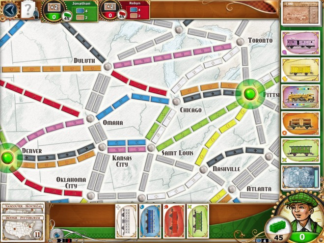 Ticket to Ride color icons