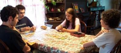 Playing Catan Card Game