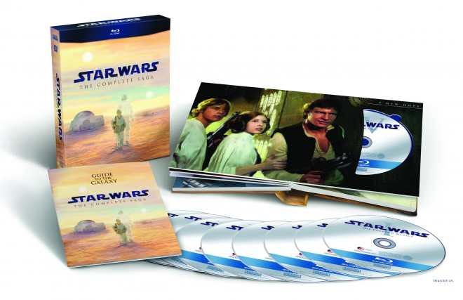 The full Star Wars Saga Blu-ray box set, image from Lucasfilm