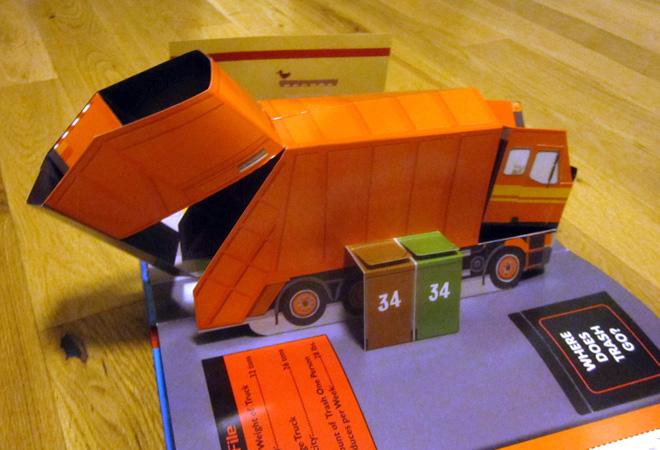 Amazing Pop-Up Trucks: garbage truck