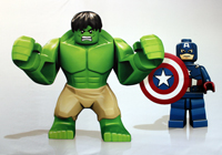 Hulk and Captain America Minifigs