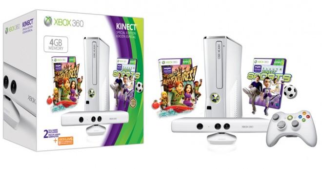Glossy white Xbox 360 4GB Bundle