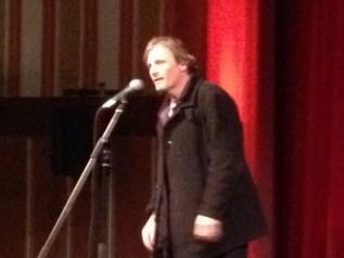 Viggo Mortensen on stage at the Coolidge Corner Theatre.