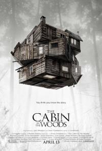Poster for THE CABIN IN THE WOODS. Note the Rubik's Cube design. This is more than your typical teens-in-the-woods slasher movie.