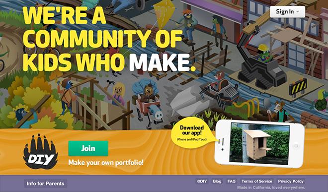 DIY.org homepage